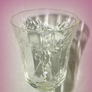 Stemmed Cordial Glass with Flowers