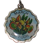Fritz Reu March Daffodil Silver-plated Flower Charm