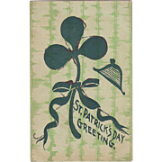 St.Patrick's Day Postcard - Shamrock with a Wee Bit o'Glitter