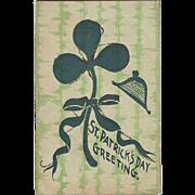 St.Patrick's Day Postcard - Shamrock with a Wee Bit o'Glitter