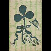 St. Patrick's Day Postcard - Shamrock with Glitter