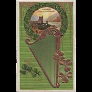Vintage St.Patrick's Day Postcard - Glenveigh Castle, County Donegal