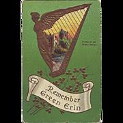 Saint Patrick's Day Vintage Postcard - Remember Green Erin; Castle Ruins