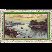 St.Patrick's Day Postcard - Lough Swilly from Castle Bridge Buncrana