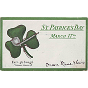 Vintage St.Patrick's Day Postcard - Undivided Back