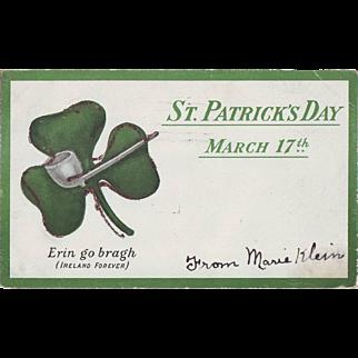 Vintage St.Patrick's Day Postcard - Undivided Back