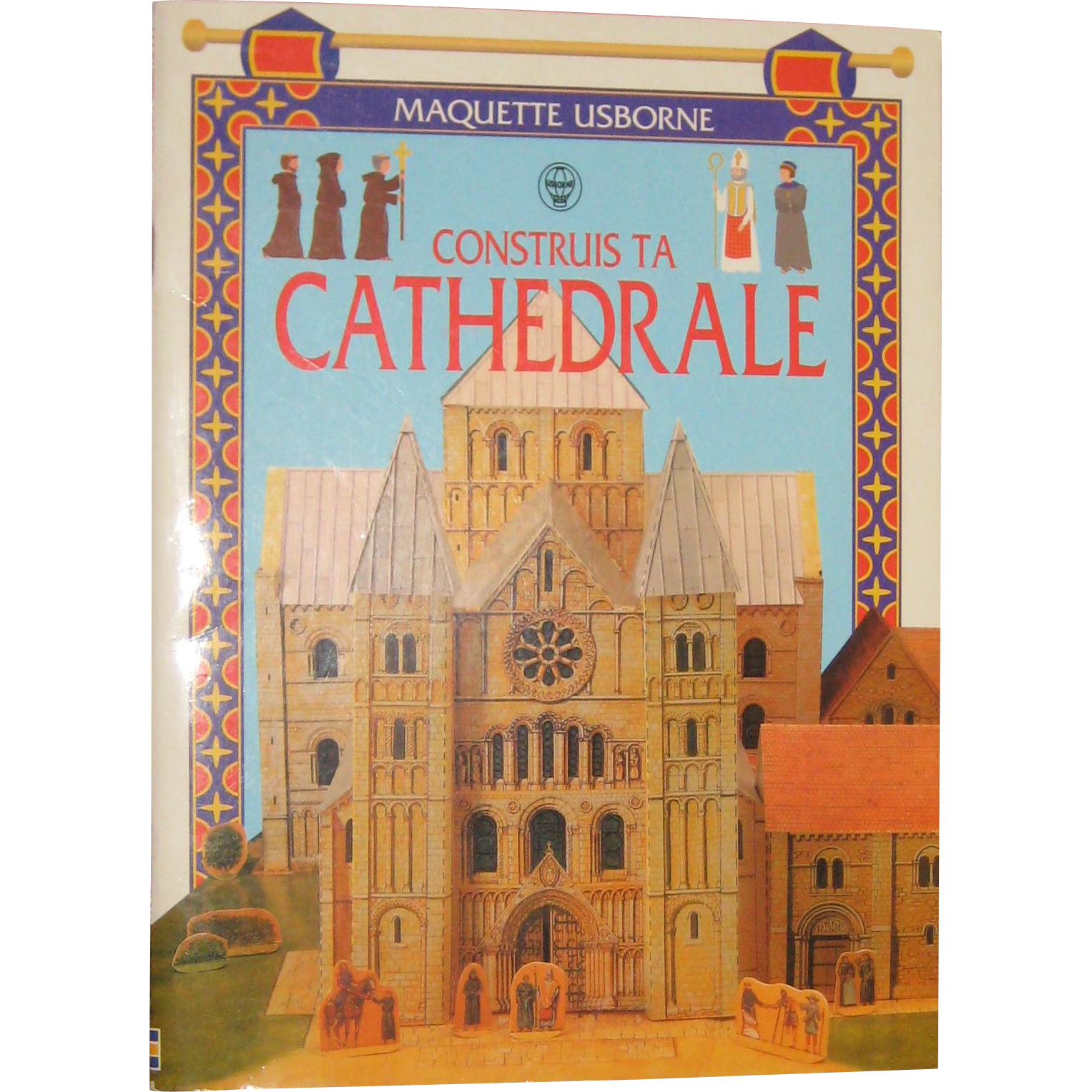 Maquette Usborne - Construis Ta Cathedrale Make This Cathedral) - Construction Book in French