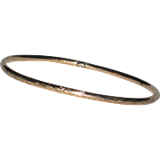 Victorian 10K Rose Gold Bangle Bracelet with Engraved Design - 3.65 grams