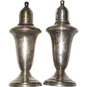 Empire Sterling Silver Salt and Pepper Shakers - Glass Lined and Weighted