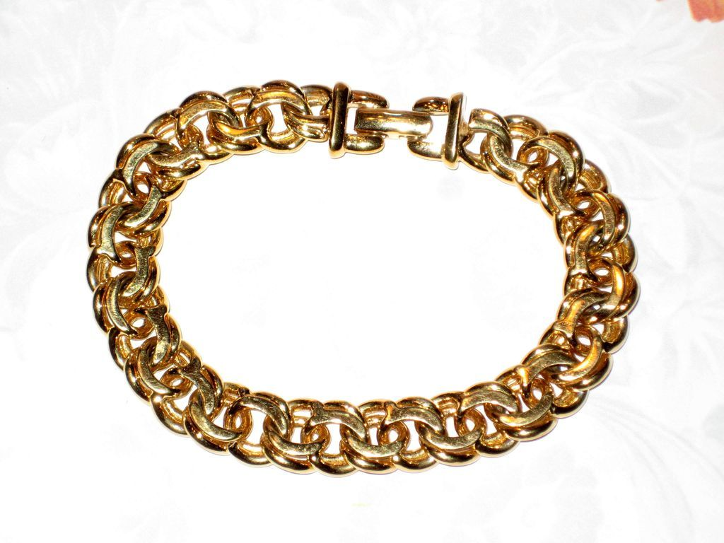 Monet Heavy Gold Tone Chain Bracelet SOLD Ruby Lane