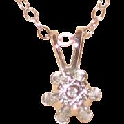 "Petite Dicini 0.2 Carat Diamond Pendant with 14K White Gold Setting and 16"" Chain - Original Box"