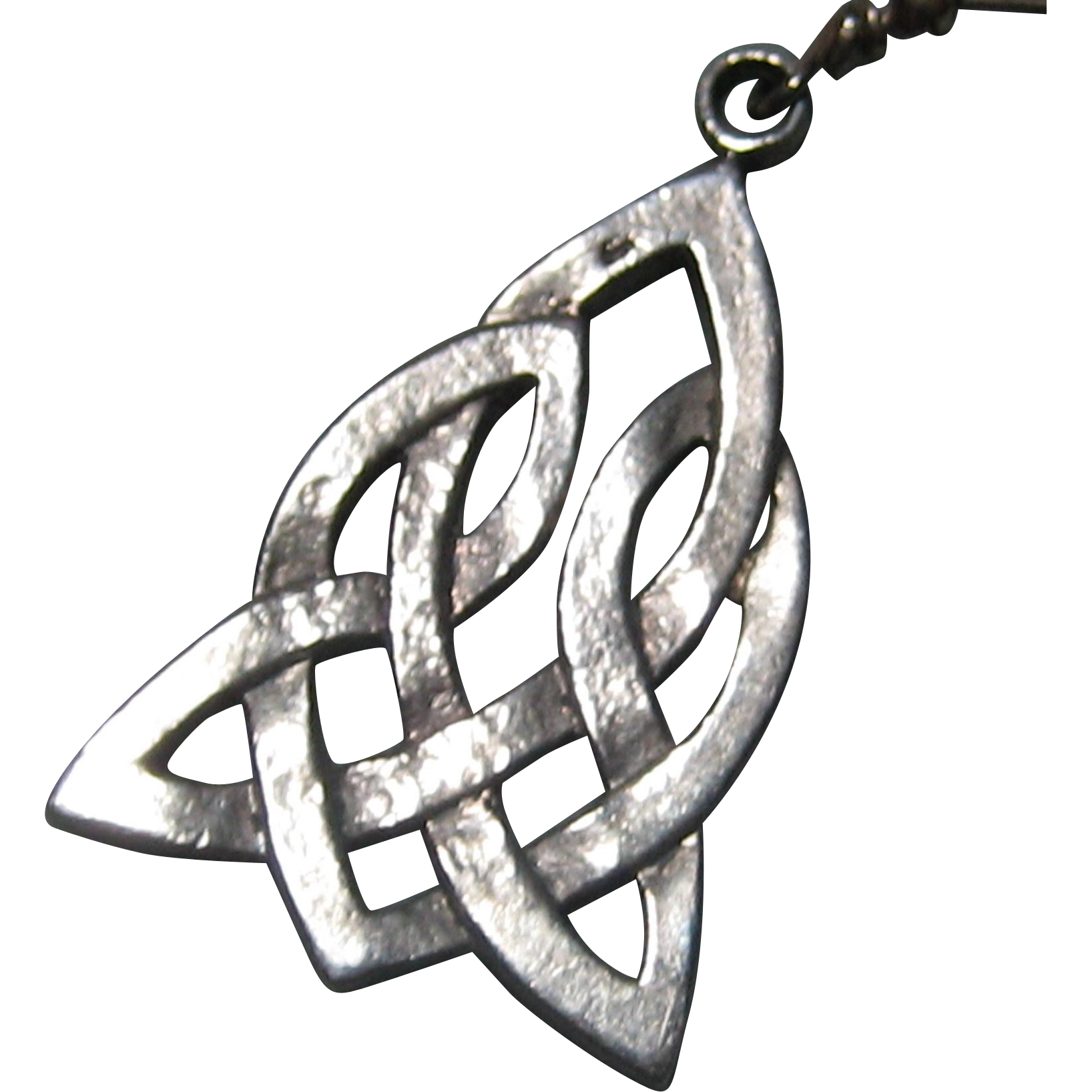 Sterling Silver Celtic Knot Trinity and Heart Charm or Pendant