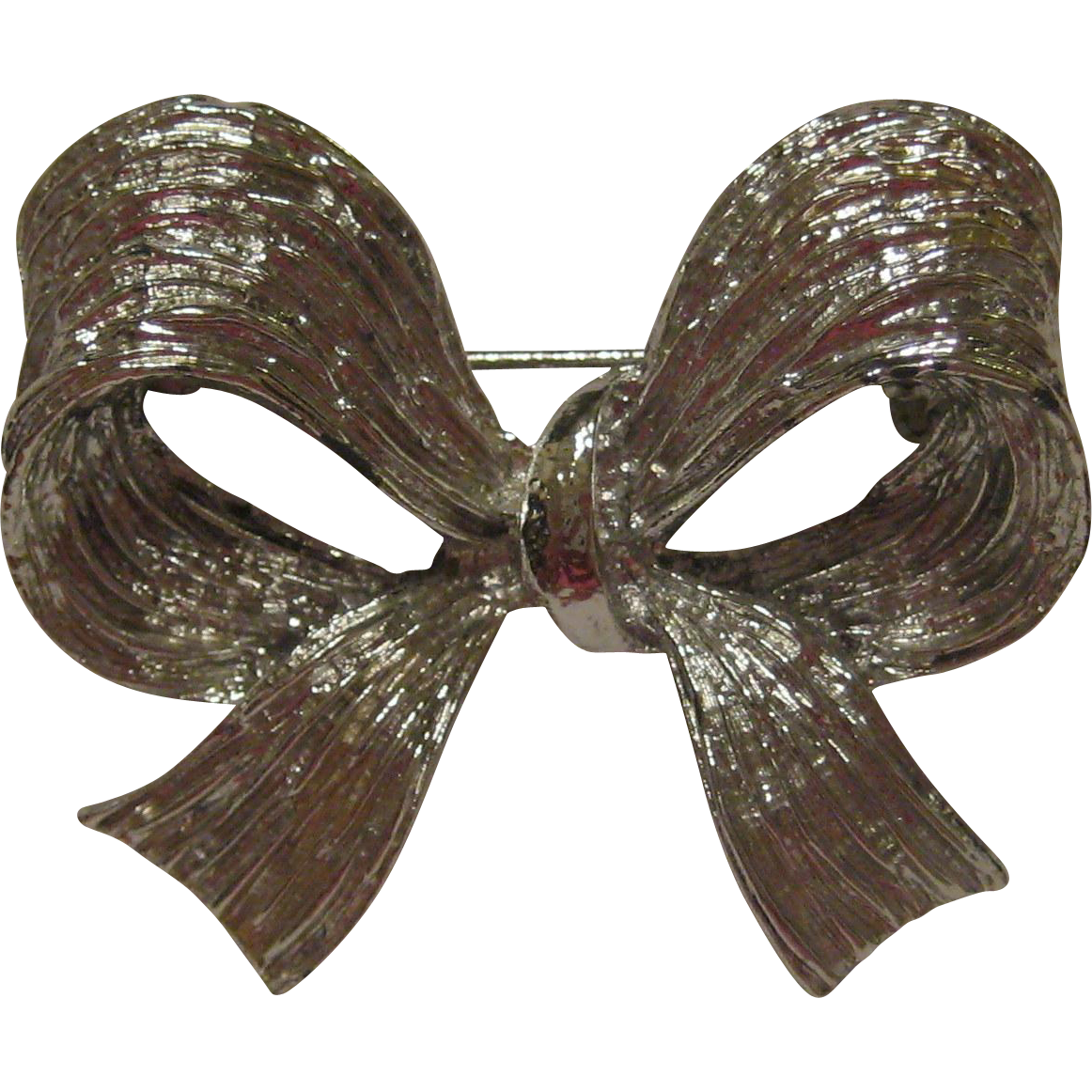 Silver-tone Bow Pin