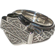 Sterling Silver Harley-Davidson Ring with Celtic Knot-work Design - Size 7