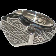 Sterling Silver Harley-Davidson Ring with Celtic Knot-work Design - Size 7