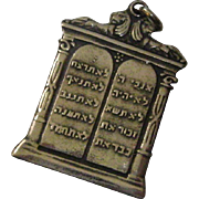 Sterling Silver Ten Commandments Charm - Hebrew - Made in Israel