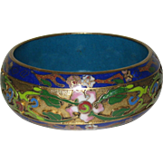 Wide Asian Cloisonne Bangle Bracelet