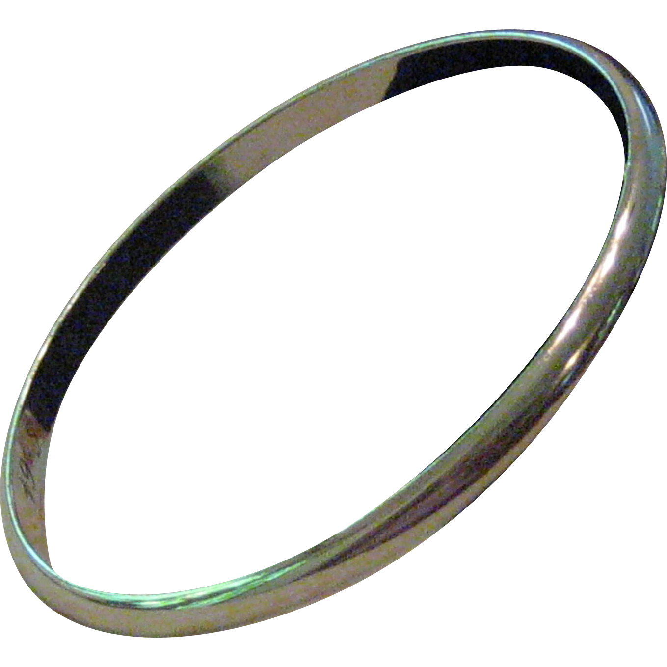 Classic Unembellished Sterling Silver Bangle Bracelet