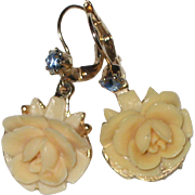 1950's Creamy White Celluloid Earrings