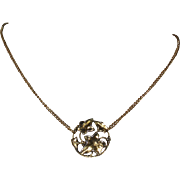Gold-tone Elven Ivy Leaf Necklace