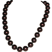 Kissaka Simulated Pearl Necklace