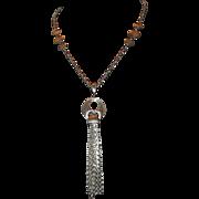 1970's Silver-tone Tassel Necklace