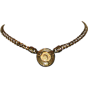 1980's Carolee Faux Ancient Roman Coin Necklace