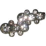 Pair of Petite 1940's Rhinestone Scatter Pins