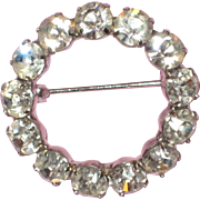 1950's Rhinestone Circle Pin