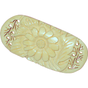 Hand Carved Bon Pin with Daisy or Sunflower