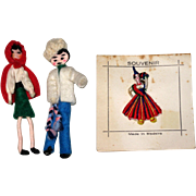 Three 1960's Souvenir Doll Pins