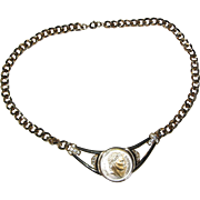 Gold Tone Necklace with Napoleon Medallion