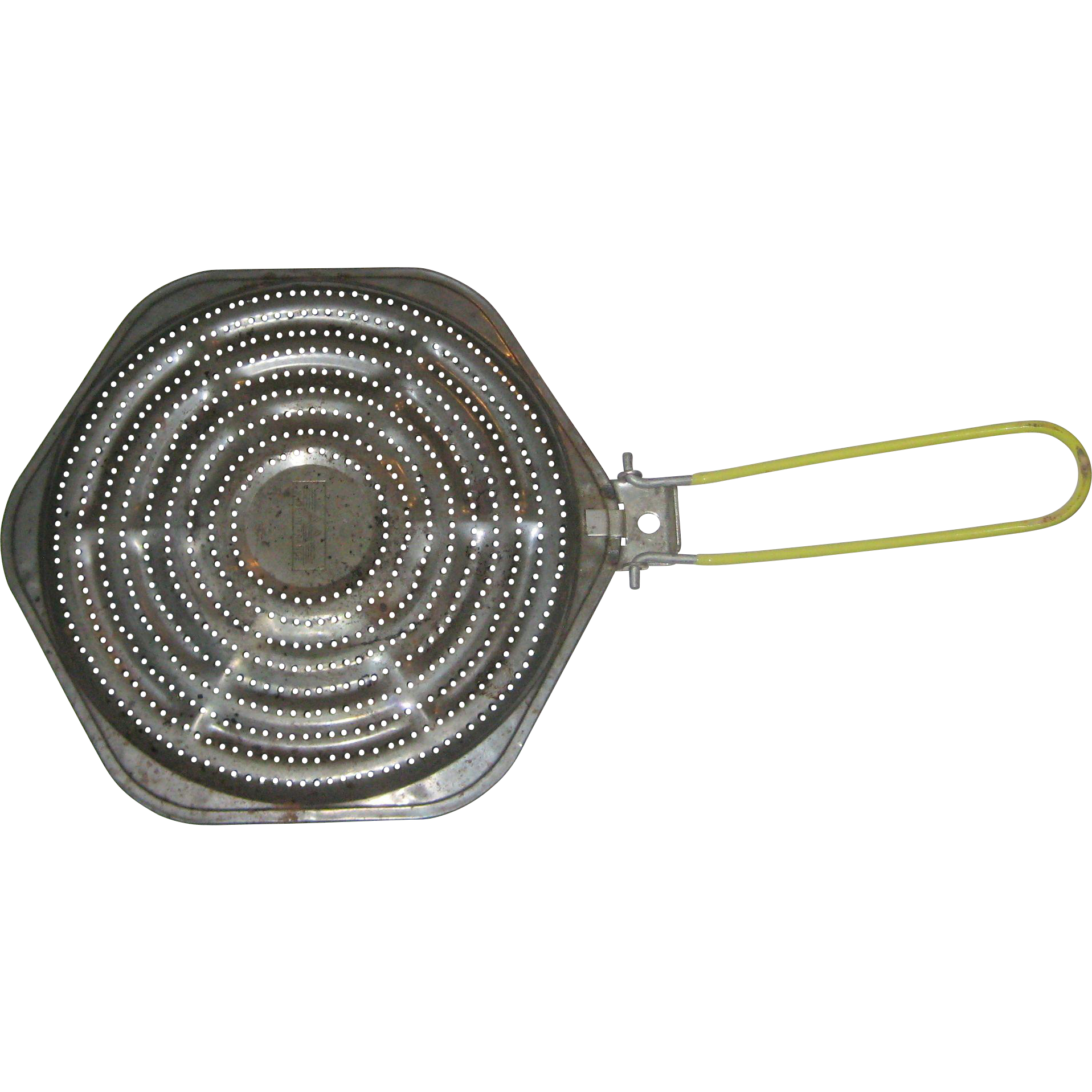 Vintage Octagonal Stovetop Heat Diffuser with Folding Handle - Made in France