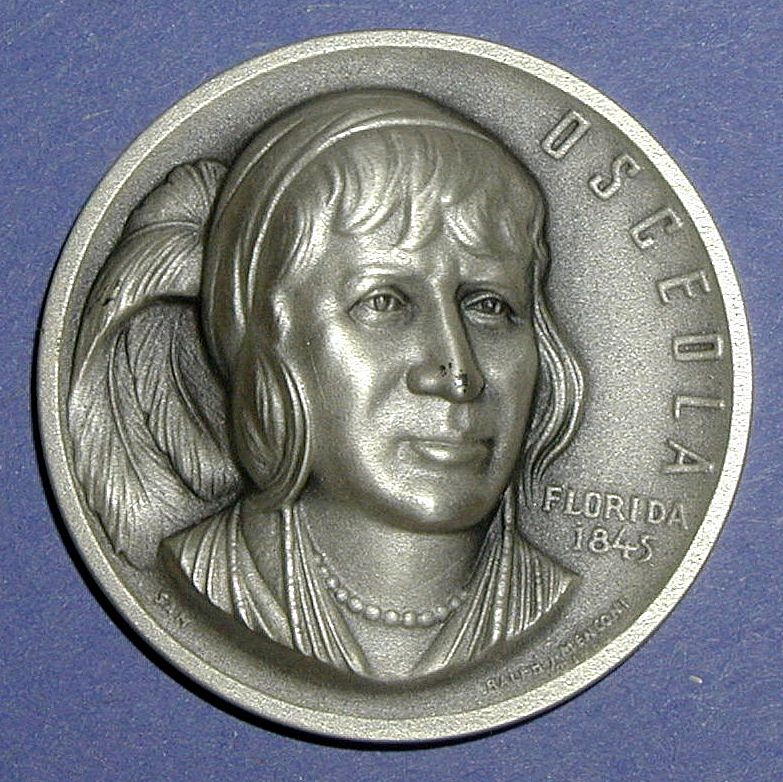Florida Silver Statehood Medal - Osceola