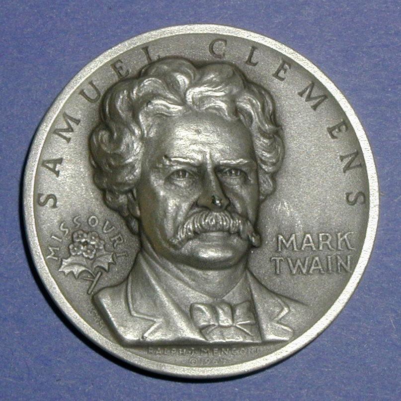 Missouri Silver Statehood Medal - Mark Twain