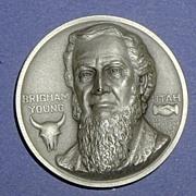 Utah Silver Statehood Medal - Brigham Young