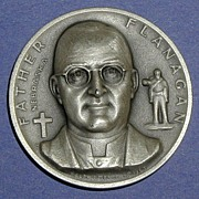 Nebraska Silver Statehood Medal - Father Flanagan
