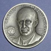 Illinois Silver Statehood Medal - Adlai Stevenson