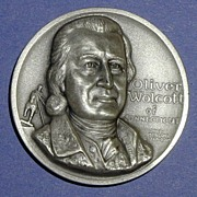 Declaration of Independence Medal - Oliver Wolcott of Connecticut