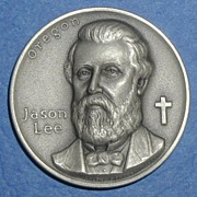 Oregon Silver Statehood Medal - Jason Lee