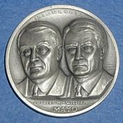 Minnesota Silver Statehood Medal - Mayo Brothers