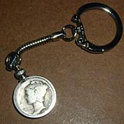 1926 Mercury Dime Coin Keychain