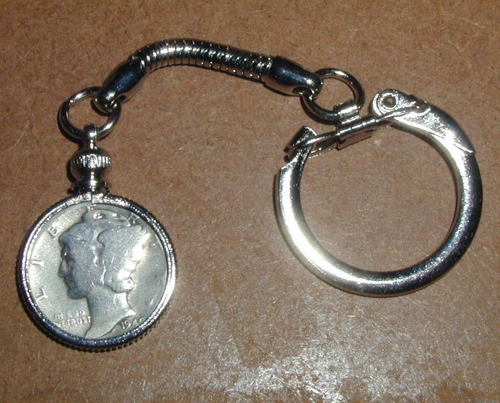 1940 Mercury Dime Coin Keychain