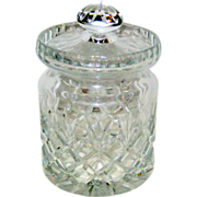 Crystal Biscuit or Candy Jar with Diamond and Wedge Pattern