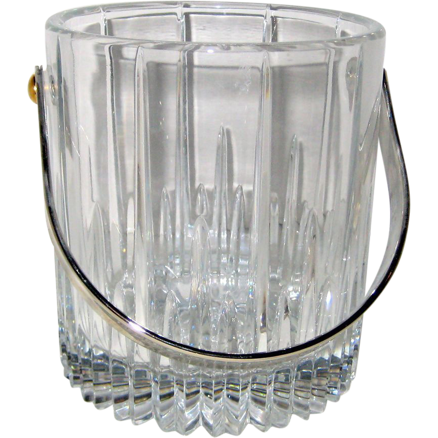 "Mikasa ""Arctic Lights"" Lead Crystal Ice Bucket"