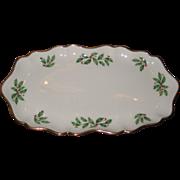 "Lenox ""Holiday"" Pattern 10"" Porcelain China Tray -- Unused"