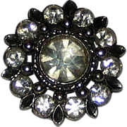 Single Rhinestone Button - 1""