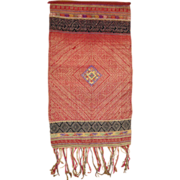Old Handwoven Silk Xam Neua Tapestry Wall Hanging from Laos