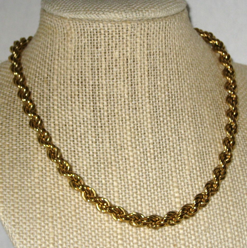 "Monet Classic 15"" Gold-tone Twisted Rope Chain Necklace"