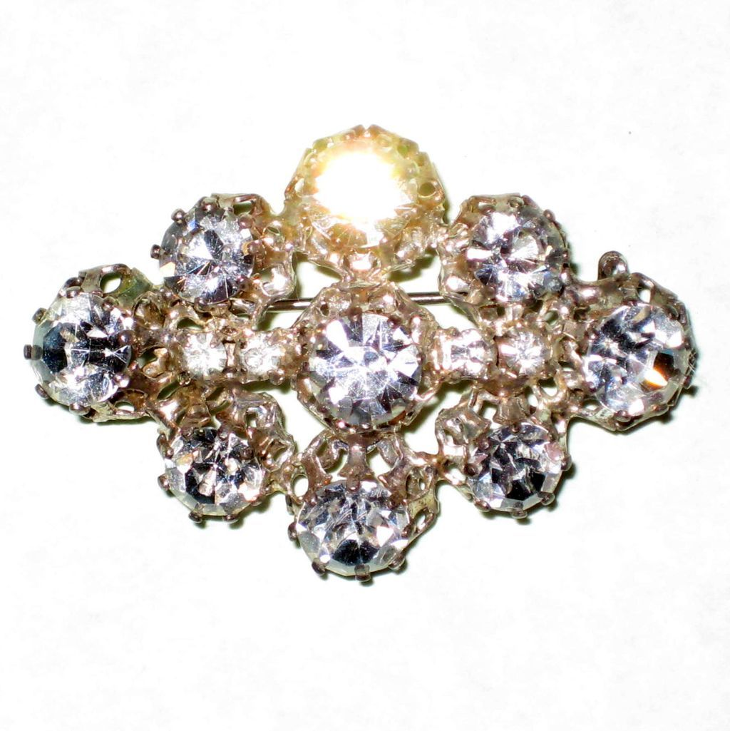 Vintage Austrian Crystal Brooch with Maximum Sparkle